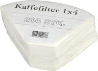 Kaffefiltre 1x4 Hvide