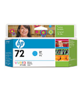 HP72 130-ml Cyan Ink Cartridge (C9371A)