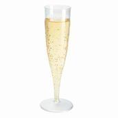 Champagneglas på fod, plastik