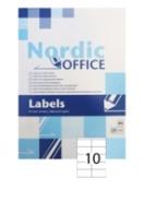 NOA etiket 105x57mm