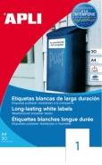 Etiket hvid, polyester etiket